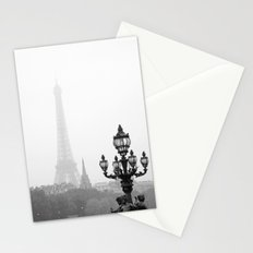 Veiled Eiffel Tower Stationery Cards