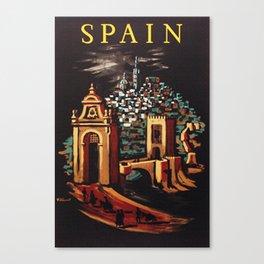 Retro Spain Travel Ad Poster Canvas Print