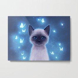 Siamese kitten Metal Print