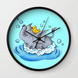 Bubble Bath Buddy Wall Clock