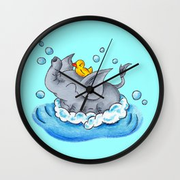 Bubble Bath Buddy Wall Clock