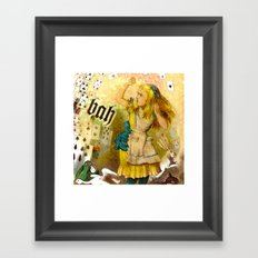 alice annoyed Framed Art Print