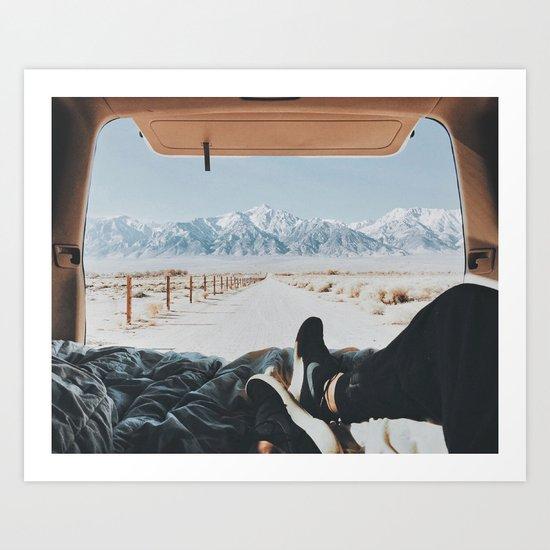 EXPLORE THE MOUNTAINS Art Print