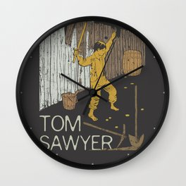 Books Collection: Tom Sawyer Wall Clock