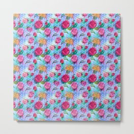 Australian Native Floral Print - Soft Colours Metal Print