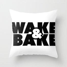 Wake & Bake Throw Pillow