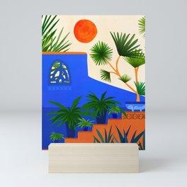 Southwest Summer Garden / Desert Landscape Mini Art Print
