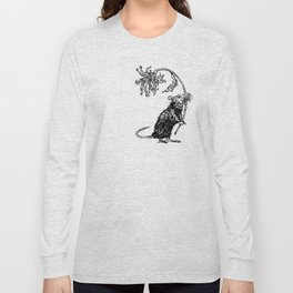 Rat with flower #2 Long Sleeve T-shirt