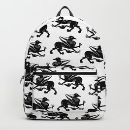 Medieval Royal Griffin Silhouette Backpack