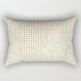 gOld squares Rectangular Pillow