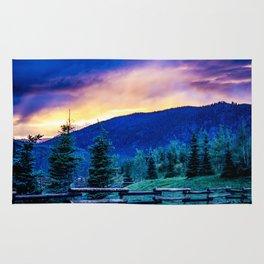 Purple Mountains Majesty - Colorado Sunrise Rug