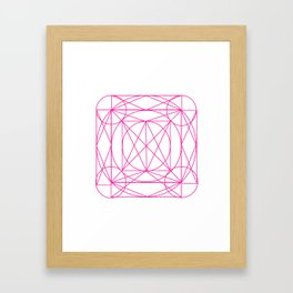 Stained Glass- Pink Framed Art Print