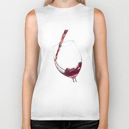 Elegant Red Wine Photo Biker Tank