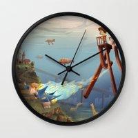 sandman Wall Clocks featuring Sandman by Maxime Lebrun