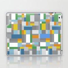 Grey Orange Map Laptop & iPad Skin