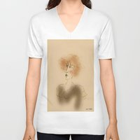 sarah paulson V-neck T-shirts featuring Sarah by Colette