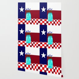 Texas Flag and Blue Bonnets Wallpaper