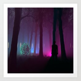 He found them in the woods. Art Print