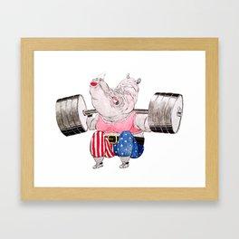the Squat Framed Art Print