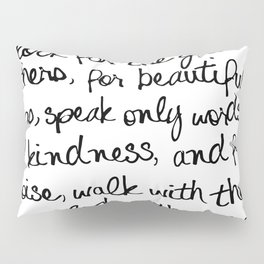 Audrey Hepburn Quote Pillow Sham