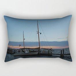 Sitting with the Setting Sun Rectangular Pillow