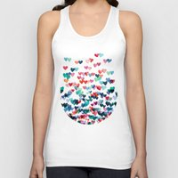 aqua Tank Tops featuring Heart Connections - watercolor painting by micklyn