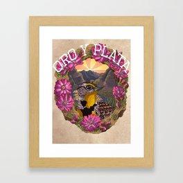 Oro y Plata Framed Art Print