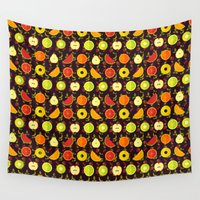 fruit Wall Tapestries featuring FRUIT by badOdds