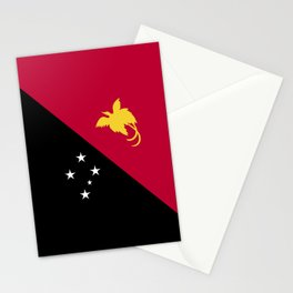 Papua New Guinea flag emblem Stationery Cards