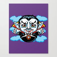 cunt Canvas Prints featuring Cunt Dracula by harebrained