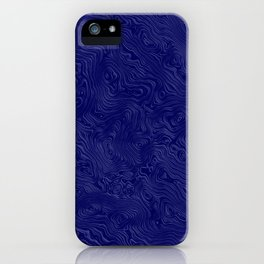 Royal Blue Silk Moire Pattern iPhone Case