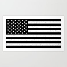 USA flag - HiDef Super Grunge Patina Art Print
