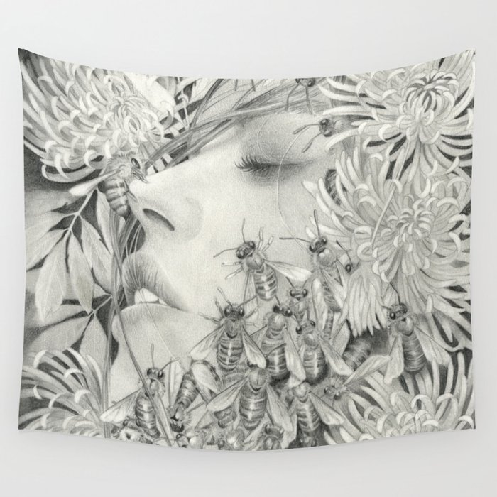 Apiphobia - Fear of Bees Wall Tapestry