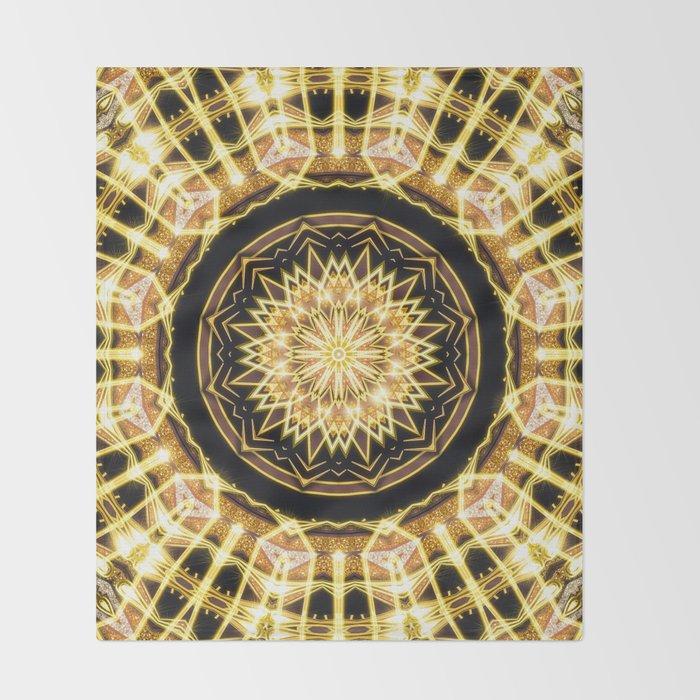 GlaMANDALA | Mandala Glamour Throw Blanket