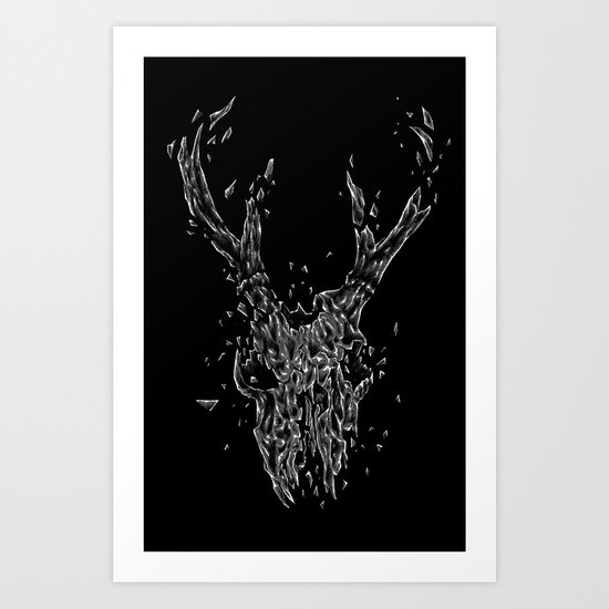 Wrecked skull Art Print