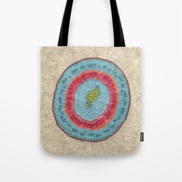 Growing - Hoya - embroidery based on plant cell under the microscope Tote Bag
