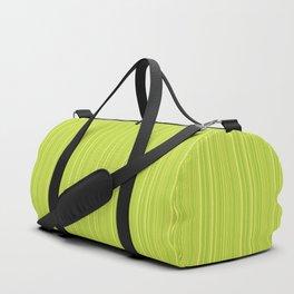 Lime Green Pinstripe Duffle Bag