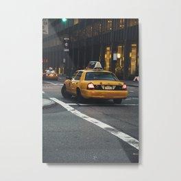 My Favourite Yellow Cab, NYC Metal Print