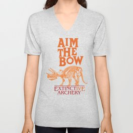 "AIM THE BOW - EXTINCT""IVE"" ARCHERY / 70s RETRO Unisex V-Neck"