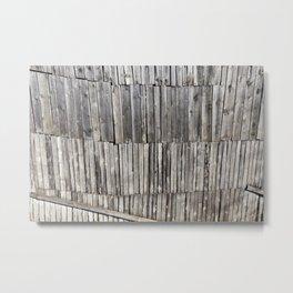 damaged old pine shed Metal Print