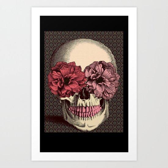 Flower Eyes Art Print