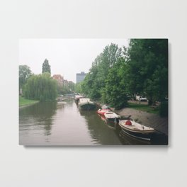 Find freedom at Amsterdam's canals Metal Print