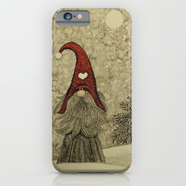"""Old """"Tomten Elmer"""" is longing for Christmas time. iPhone Case"""