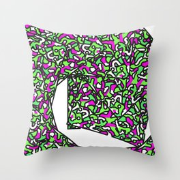 The Spiral Squares Throw Pillow