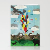 chile Stationery Cards featuring Sur de Chile by i am nito
