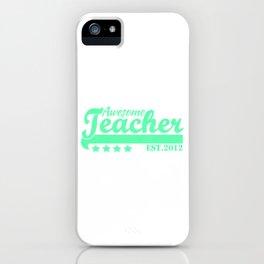 Best Teacher teaching 8th school love children teach Tshirt iPhone Case
