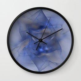 Folds in Blue N Gold Wall Clock
