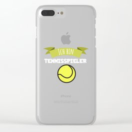I am a tennis player Clear iPhone Case