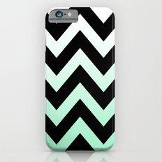 BLACK CHEVRON MINT FADE Slim Case iPhone 6s