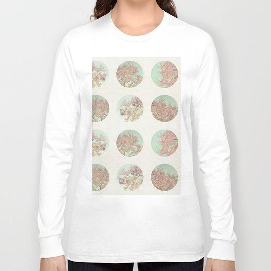Pink Tree Polka Dots Long Sleeve T-shirt